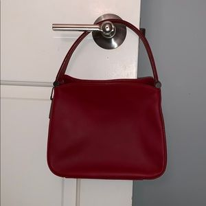 Berry red, small Coach bag